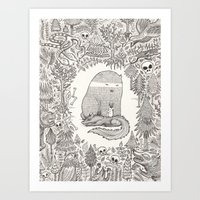 Froggle, Doggle And Pogg… Art Print