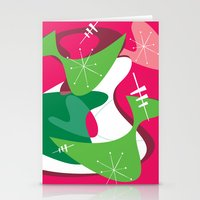 Retro Romp Stationery Cards