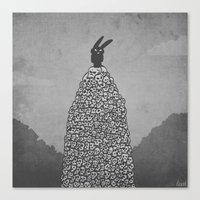 The Black Bunny Of Doom … Canvas Print