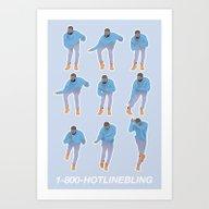 Hotline Bling (blue) Art Print