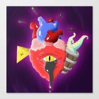 Cursed Heart Canvas Print