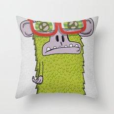 005_monkey glasses Throw Pillow