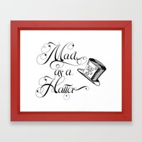 Alice In Wonderland Mad … Framed Art Print