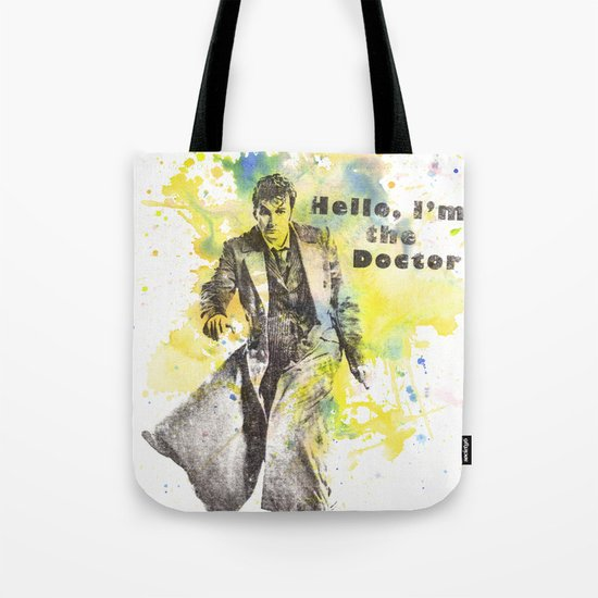 Doctor Who 10th Doctor David Tennant Tote Bag