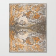 Fishes  /  Mirror Underw… Canvas Print