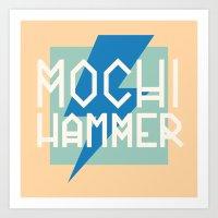 Mochi Hammer Art Print