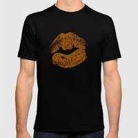 GLITTER KISS Mens Fitted Tee Black SMALL