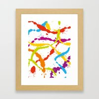Splattered Rainbow [WHIT… Framed Art Print