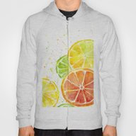 Fruit Watercolor Hoody