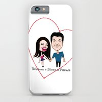 iPhone & iPod Case featuring Rebecca Black and Simon Cowell are Friends by Alex Tavshunsky