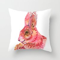 The squirrel magic  Throw Pillow