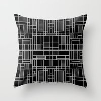 Map Lines Silver Throw Pillow