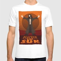 Blacken the Sun Mens Fitted Tee White SMALL