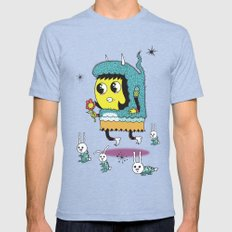 The Birds and the Bunnies  Mens Fitted Tee Tri-Blue SMALL