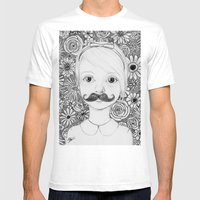 Portrait Of Iris Mens Fitted Tee White SMALL