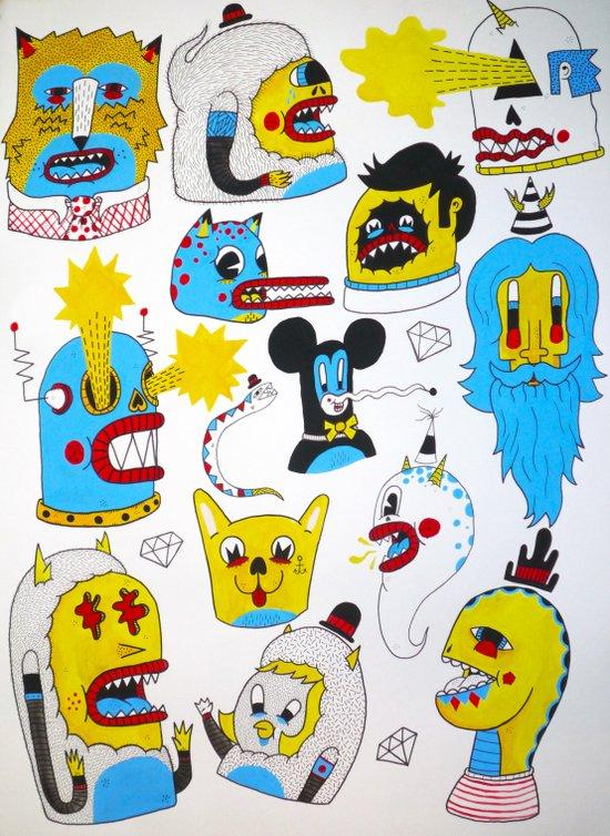 Friends and Enemies Art Print