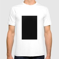 Black #3 (Ebony) Mens Fitted Tee White SMALL