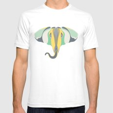 Elephant Gun White Mens Fitted Tee SMALL
