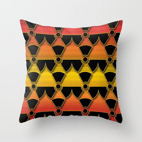 Sunset Warning! Throw Pillow