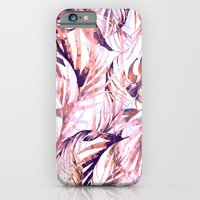 iPhone & iPod Case featuring Coral Tropical Palms by Nikkistrange