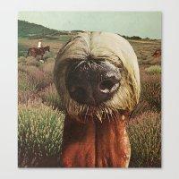 dog breath across a purple plain Canvas Print