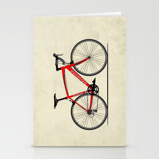 Specialized Racing Road Bike Stationery Card