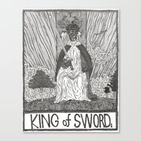 King Of Swords Canvas Print