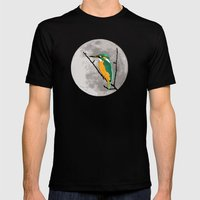 Fly Me To The Moon Mens Fitted Tee Black SMALL