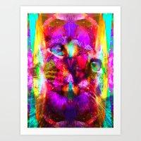 Crystal Cat - Sir Parker Art Print