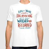 Edward Snowden Mens Fitted Tee White SMALL