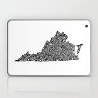 Typographic Virginia Laptop & iPad Skin