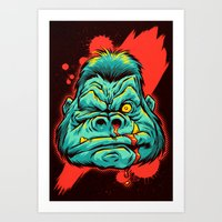 GRRRILLA Art Print