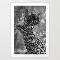 The Arcelormittal Orbit Monochrome Art Print