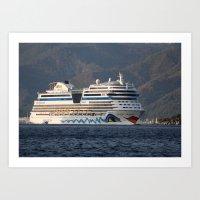 Aida Stella Cruise Ship … Art Print