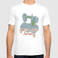 You're Sew Lovely Mens Fitted Tee White SMALL
