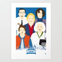 1985 (Faces & Movies) Art Print