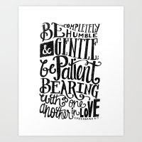 BE GENTLE BE PATIENT Art Print