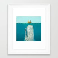 The Whale - square format Framed Art Print