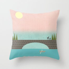 Throw Pillow - When Country Meets the Sky - Tammy Kushnir