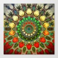 Sun Mandala 2 Canvas Print