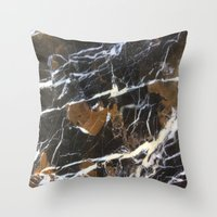 Stylish Polished Black M… Throw Pillow