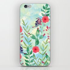 Watercolor floral garden  iPhone & iPod Skin