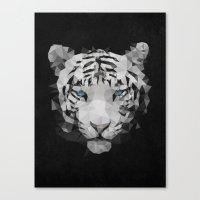 Meduzzle: White Lion Canvas Print