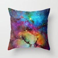 Floral Nebula Throw Pillow