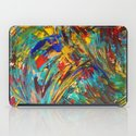 FIREWORKS IN COLOR - Bold Abstract Acrylic Painting Lovely Masculine Colorful Splash Pattern Gift iPad Case