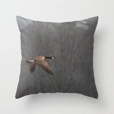 The Great Goose Escape Throw Pillow