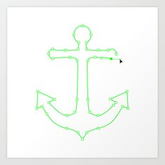 Anchor Points Art Print