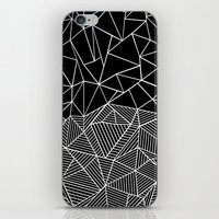 Ab Half and Half Black iPhone & iPod Skin