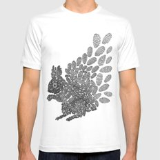 Squirrel SMALL White Mens Fitted Tee