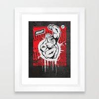 Mayhem Ape (Black On Red… Framed Art Print